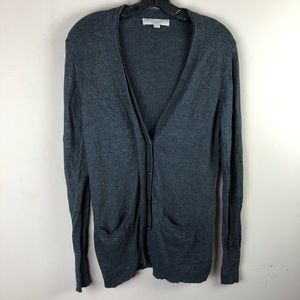 Ann Taylor loft women's cardigan sweater sz M gray